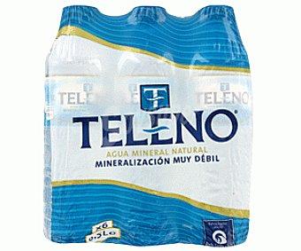 Teleno Agua mineral natural Pack 6 Unidades de 33 Centilitros
