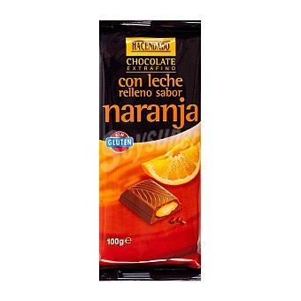 Hacendado Chocolate leche relleno naranja Tableta 100 g