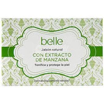 Belle Jabón natural con estracto de manzana Pastilla 125 g