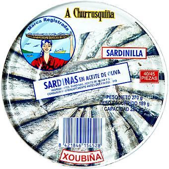 A Churrusquiña Sardinillas en aceite de oliva Lata 180 g neto escurrido