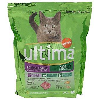 Ultima Affinity Pienso para gatos esterilizados adultos a base de buey, cebada y cereales Bolsa 800 g