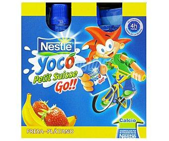 Nestlé Petit Líquido Fresa-Plátano Yoco Petit Fresa/Plátano4x80g