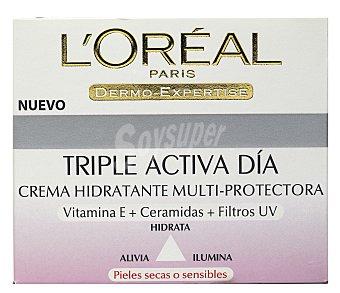 L'Oréal Paris Crema hidratante tripe activa día para piel seca Tarro 50 ml