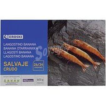 Eroski Langostino salvaje rudo 26/34 mediano Caja 600 g