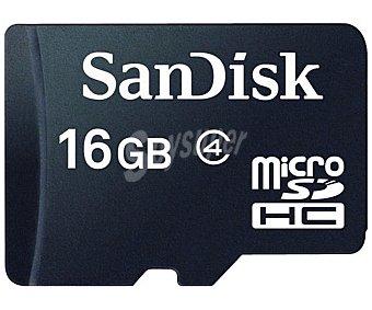 SANDISK Tarjeta de Memoria Micro Sdhc 16GB de alta velocidad clase 4