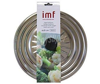 IMF Tapa multiusos fabricada en acero inoxidable para sartenes, ollas y cazuelas de 28 centímetros 1 Unidad