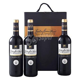 "Faustino Rivero Estuche de vino D.O. Ca. ""rioja"" tinto reserva Pack 3x75 cl"