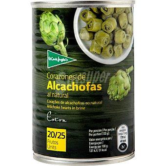 El Corte Inglés Corazones de alcachofas 20-25 piezas  lata 240 g neto escurrido