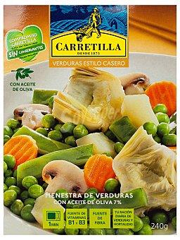 Carretilla Menestra de verduras con aceite de oliva 240 gramos