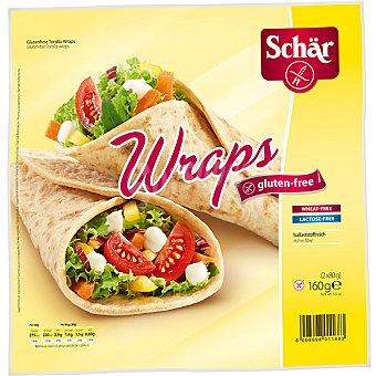 SCHAR Wraps Tortitas sin gluten envase 160 g 2 unidades