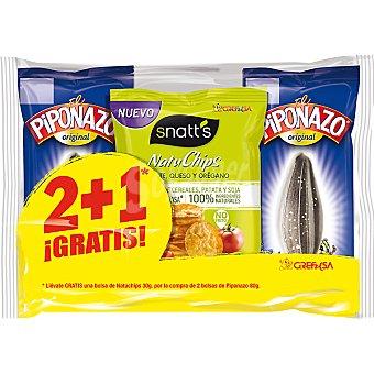 El Piponazo Grefusa Original + regalo Natuchips bolsa... Pack 2 bolsas 80 g
