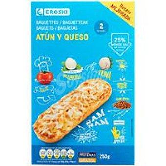 Eroski Baguette de atún Pack 2x125 g
