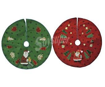 Actuel Cubre pie de árbol de navidad de 73cm, rojo o verde dibujo de Papa Noel ACTUEL.