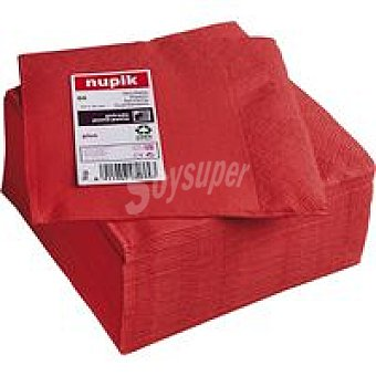Nupik Servilletas rojas 2 capas 33x33 Paquete 50 unid