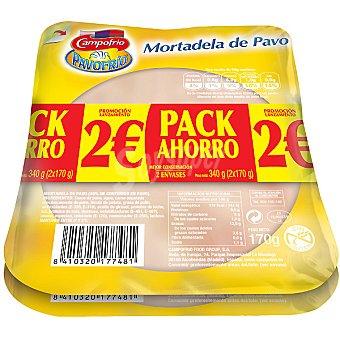 Campofrío Mortadela de pavo lonchas Pack de 2x160 g