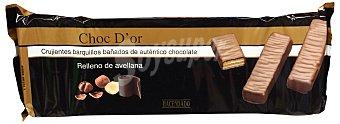 Hacendado Barquillo cuadrado cubierto chocolate y relleno de avellana (choc D' dor) Paquete 200 g