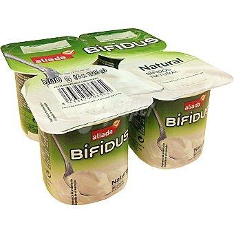 Aliada Yogur bífidus natural Pack 4 unidades 125 g