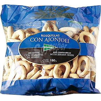 El Corte Inglés Rosquillas de pan con ajonjolí Bolsa 180 g