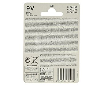 Auchan Pila alcalina 6LR61 9V 1 unidad