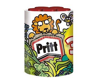 Pritt Lote de 5 barras adhesivas de 22 gramos + simpática taza de animales de regalo 1 unidad