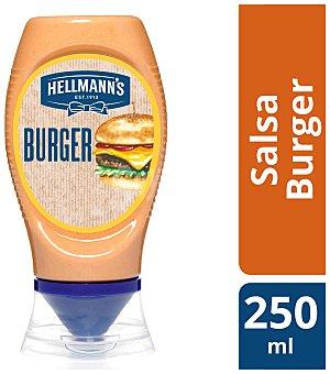 Hellmann's Gran salsa burger bocabajo Envase 250 g