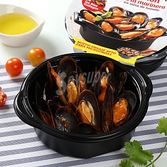 Angulas Aguinaga Mejillón en salsa de tomate Bandeja de 400 g