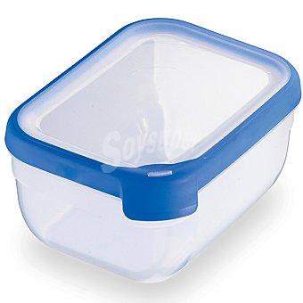 Curver Hermético rectangular tapa transparente y azul 1,8 l 1,8 l