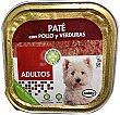 Comida perro razas pequeñas adulto pate pollo verduras Tarrina 150 g Bobby