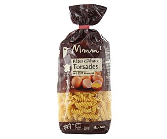 Auchan Pasta Fusilli al huevo Paquete de 250 g