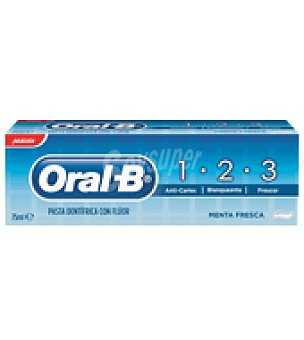 Oral-B Dentífrico con fluor menta fresca 75 ml