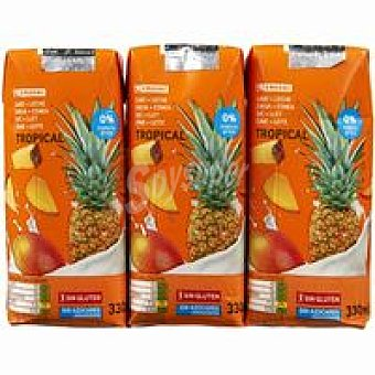 Eroski Lactozumo tropical Pack 3x330 ml