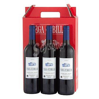 """Vega Cubillas Estuche de vino D.O. """"ribera del Duero"""" tinto Pack 3x75 cl"""