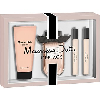 Massimo Dutti In Black eau de toilette femenina spray 80 ml + body lotion tubo 75 ml + 2 miniatura 15 ml Spray 80 ml