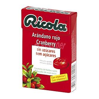 Ricola Caramelos de hierbas suizas sin azúcares con sabor a arándano rojo 50 gramos