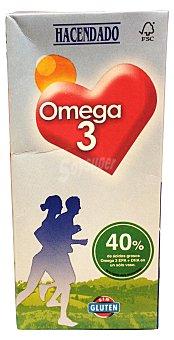 Hacendado Preparado lácteo omega 3 (desnatada) Brick 1 l