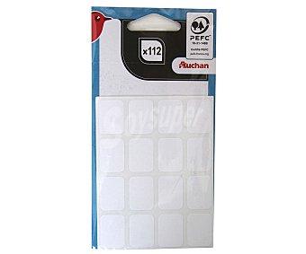 Auchan Bolsa con 112 etiquetas adhesivas blancas de 22X16 centímetos AUCHAN.