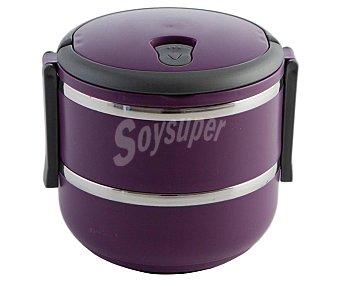 QUID Go Recipiente isotérmico doble para alimentos sólidos, modelo go!, color morado, 1,4 litros 1 unidad