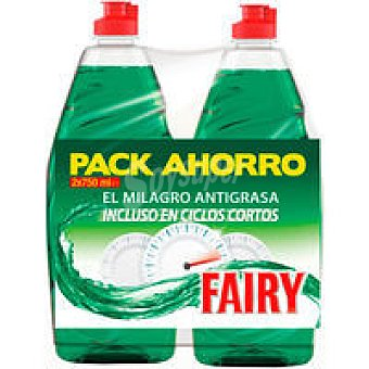 Fairy Lavavajillas mano ultra Pack 2x750 ml