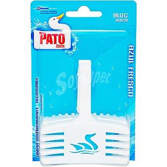 Pato Desinfectante WC Bloc activo azul aparato + recambio