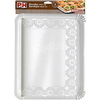 P & H Blonda 34x41 con bandeja de cartón 30x37 Estuche 5 unidades