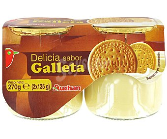 Auchan Postre lácteo de galletas 2 x 135 g