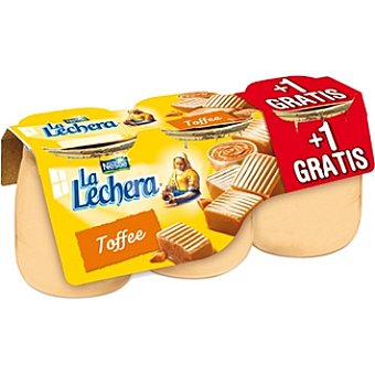 La Lechera Nestlé toffee envase 135 g + 1 gratis pack 2 unidades