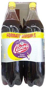 La Casera Tinto verano limon Botella pack 2 x 1500 cc - 3 l