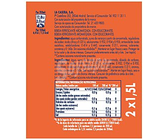 La Casera Refresco de naranja Pack 2x1,5 litros
