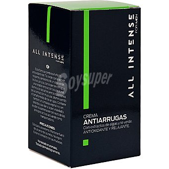 All Intense Crema antiarrugas con extractos de algas y té verde dosificador For Men 50 ml