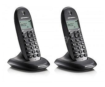 MOTOROLA C1002LB+ Teléfono inalámbrico dúo