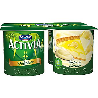 Activia Danone Yogur sabor tarta de limón Pack 4 unidades 125 g