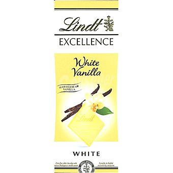 LINDT EXCELLENCE Chocolate blanco con vainilla tableta 100 g Tableta 100 g