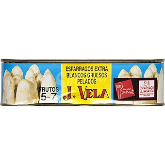 J. vela Espárragos blancos extra D.O. 5-7 piezas Lata 250 g neto escurrido