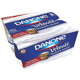 DANONE VELOUTÉ yogur natural azucarado textura suave 120... pack 4 unidades